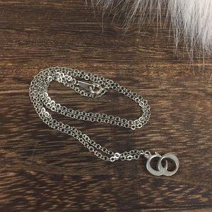 Vintage necklace CO pendant